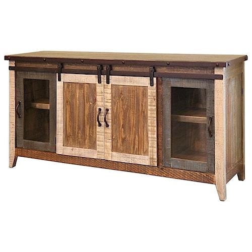 International Furniture Direct 900 Antique Rustic 70