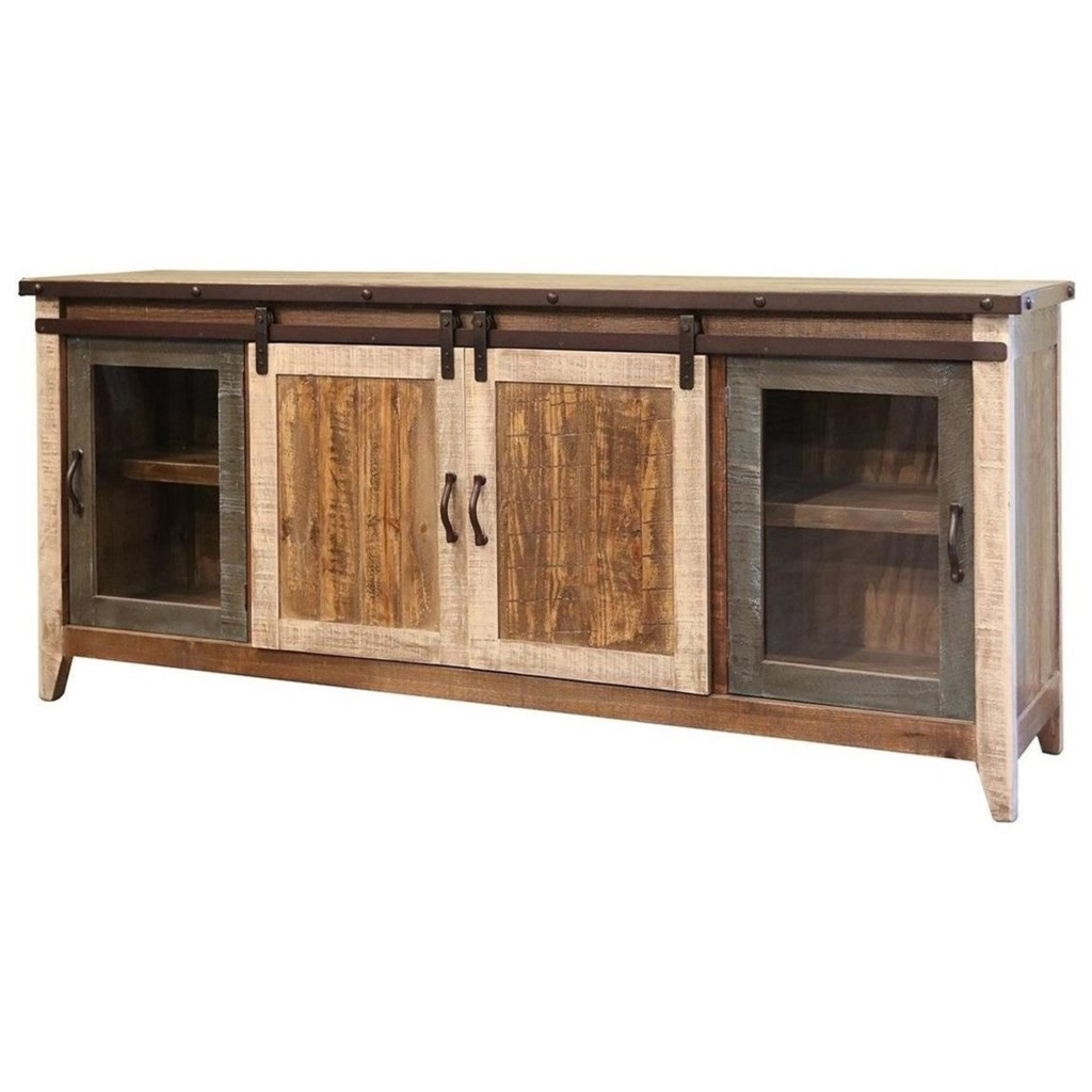 International Furniture Direct 900 Antique Ifd962stand 80 Rustic Tv