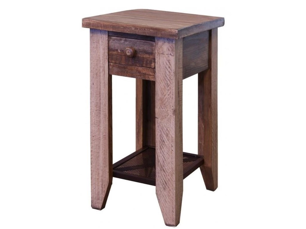 International Furniture Direct 900 AntiqueChair Side Table