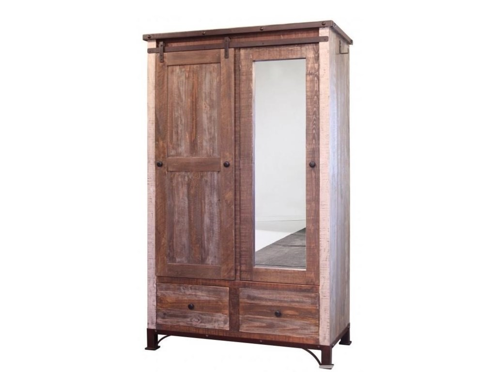 International Furniture Direct 900 AntiqueArmoire ... - International Furniture Direct 900 Antique IFD966ARMOIRE Armoire
