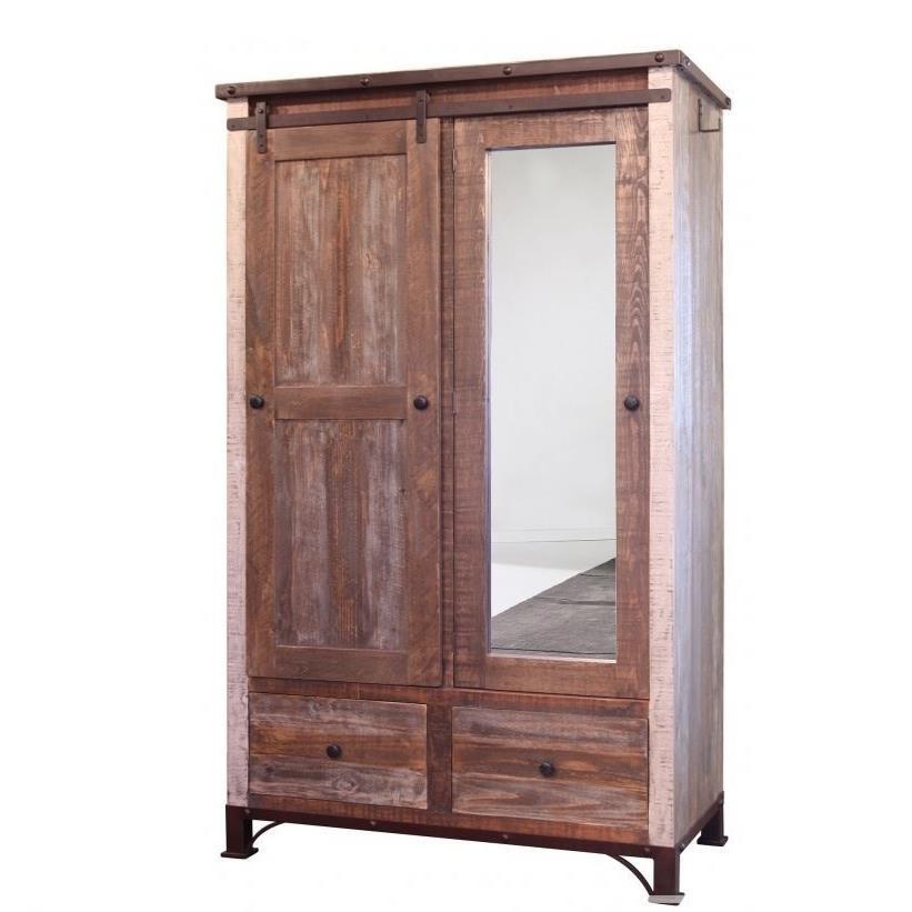 International Furniture Direct 900 AntiqueArmoire ...