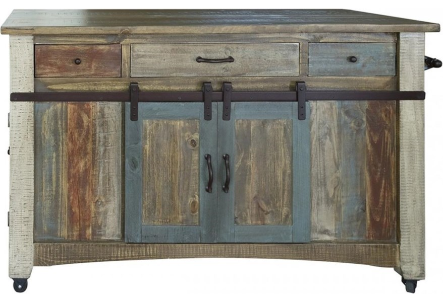 International Furniture Direct 900 Antique Ifd968island Mc Rustic