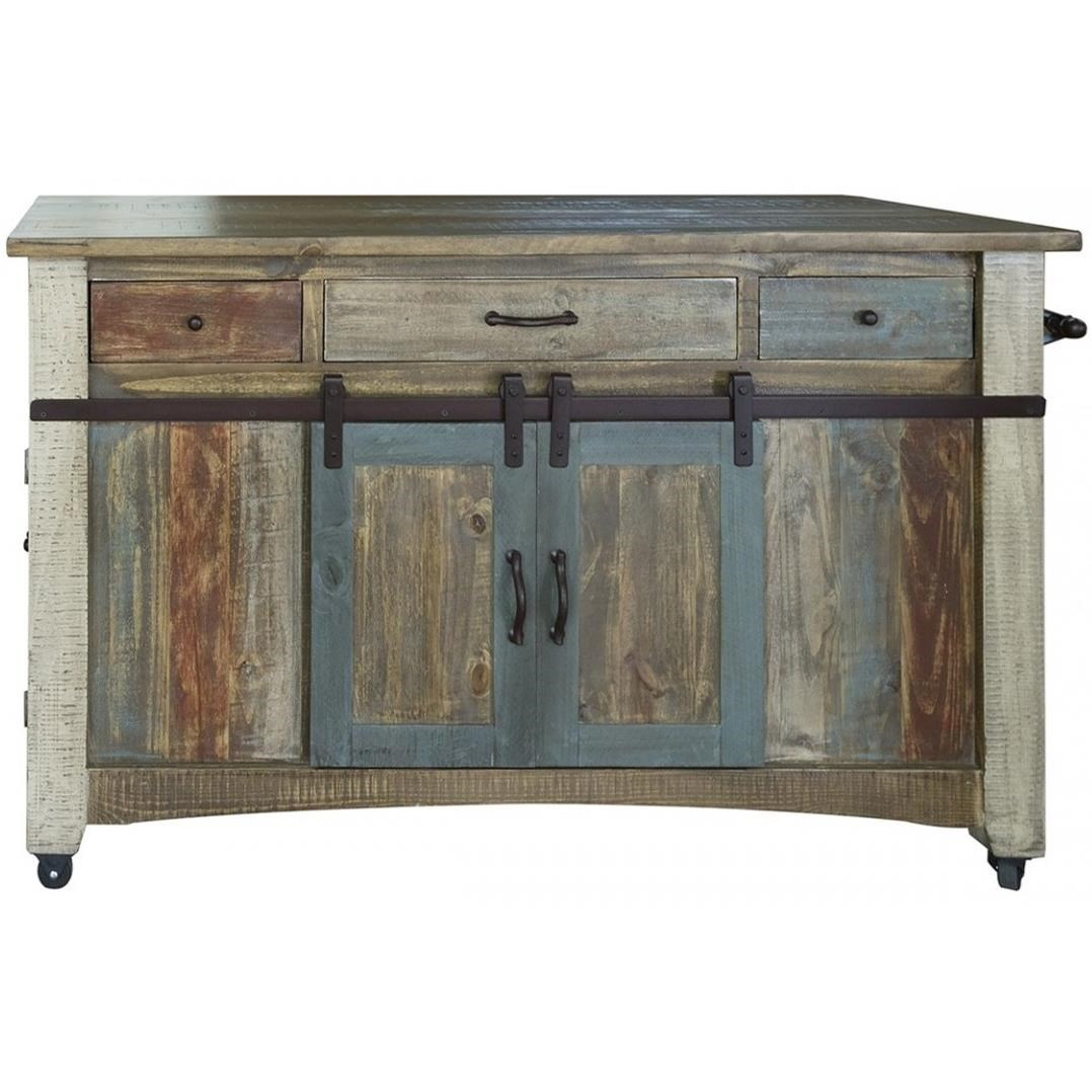 International Furniture Direct 900 AntiqueKitchen Island ...