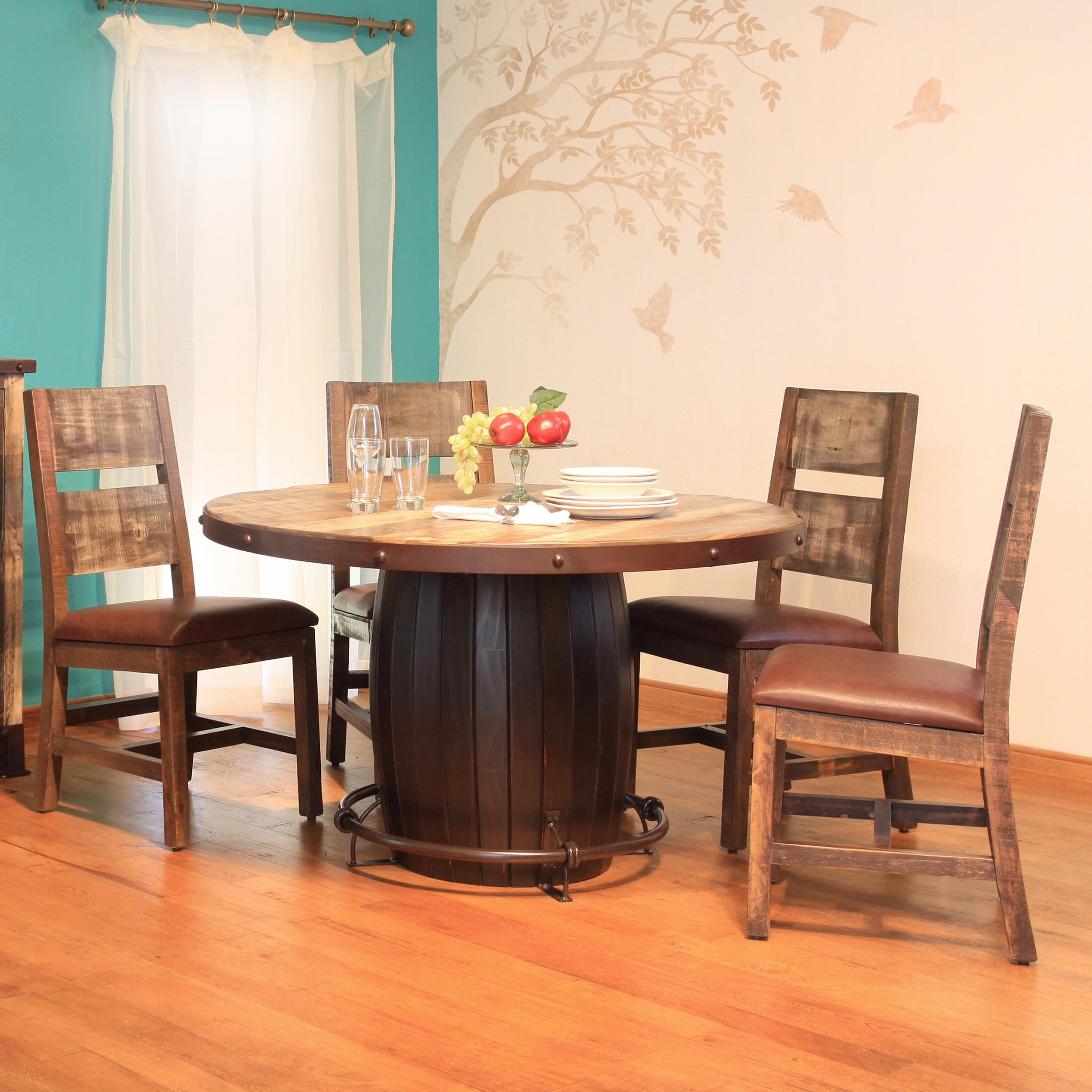 International Furniture Direct 900 Antique5 Piece Dining Set ...