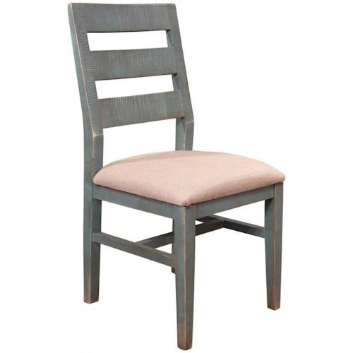 International Furniture Direct 900 Antique Rustic Dining Side Chair