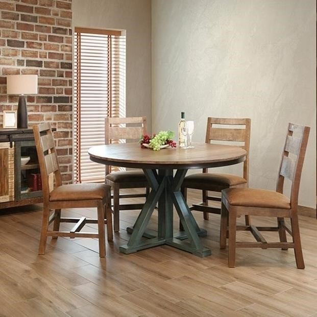International Furniture Direct 900 AntiqueRound Dining Table