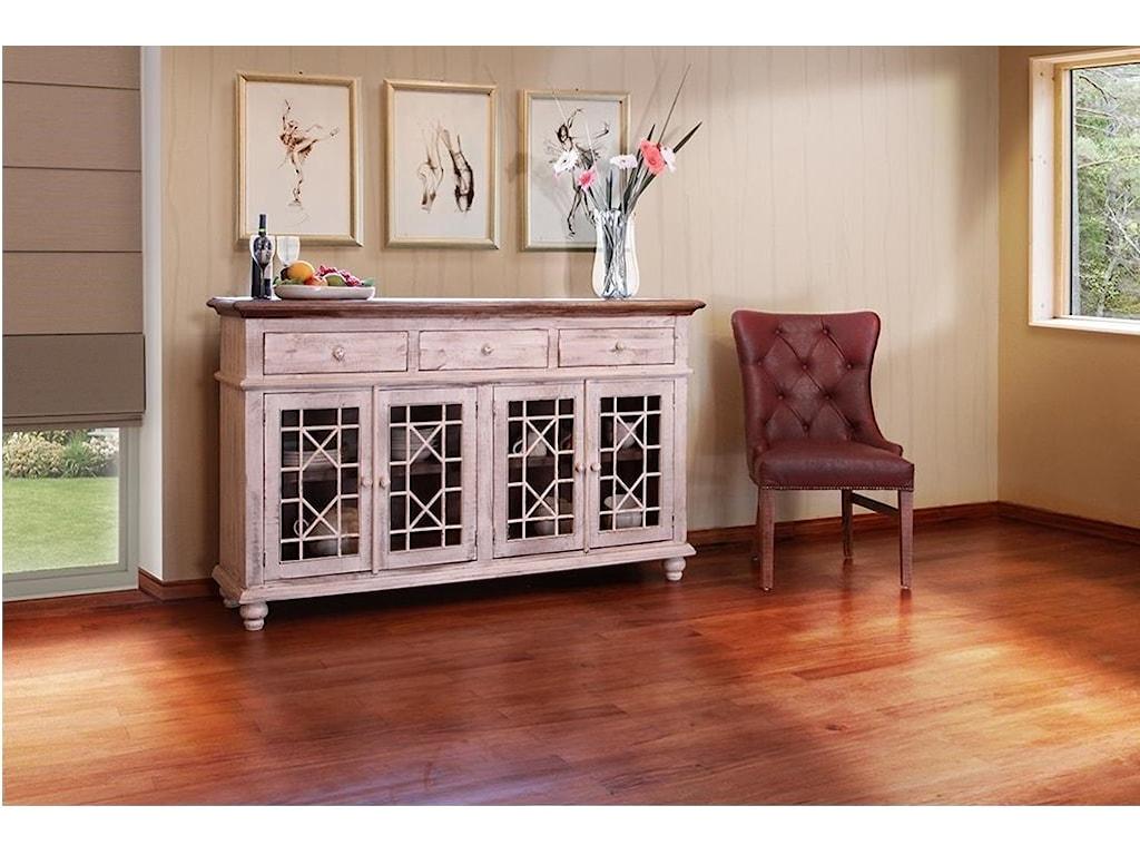 International Furniture Direct 900 AntiqueVintage White 70