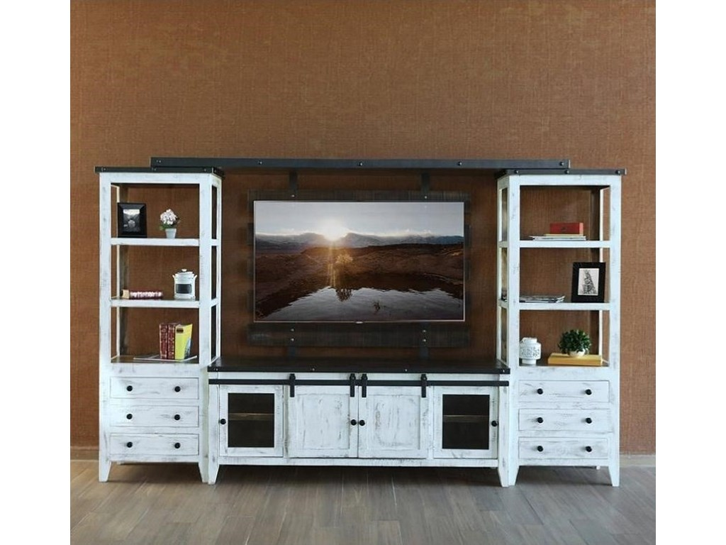 International Furniture Direct 960Entertainment Wall Unit