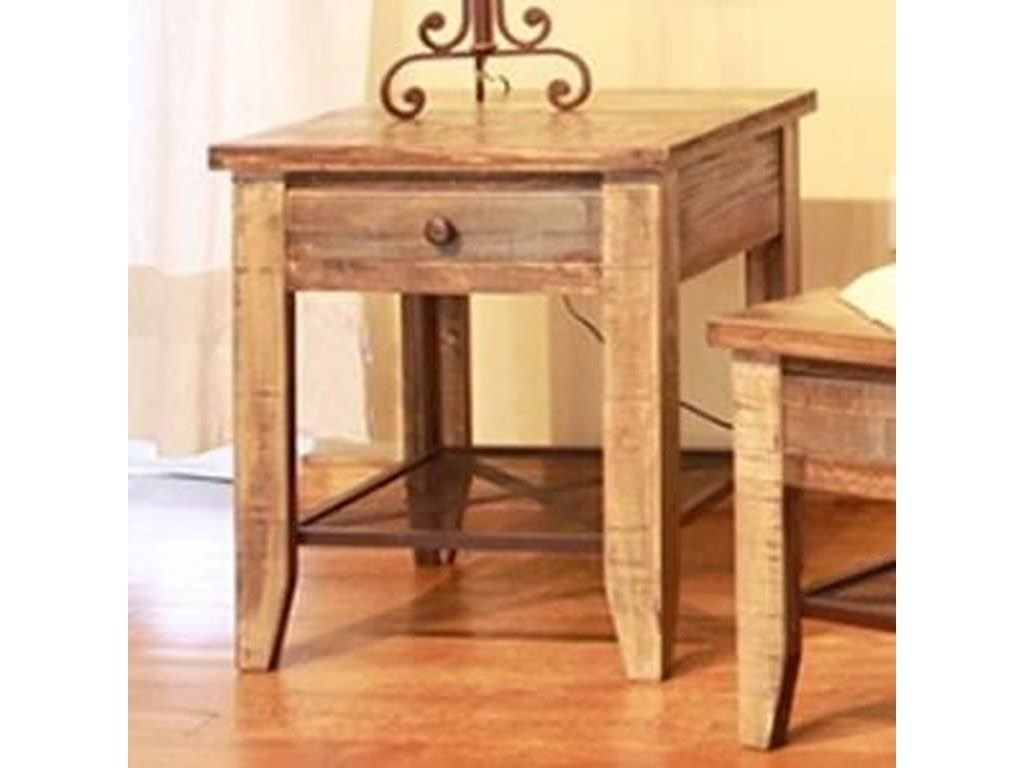International Furniture Direct 968Cocktail Table, End Table and Chairside Tabl