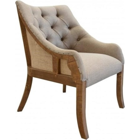Tufted Arm Chair with Deconstructed Backrest
