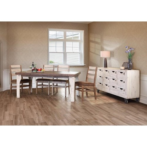 International furniture direct 965 rustic dining room group