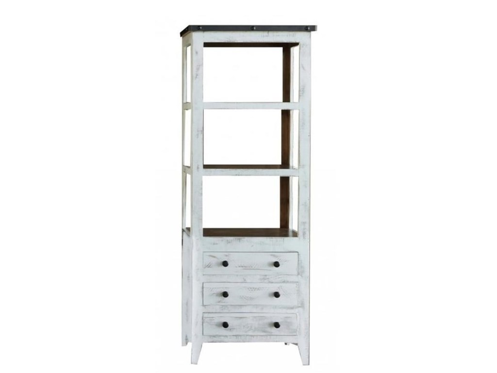 International Furniture Direct 960Universal Pier with 3 Drawers and 3 Shelves