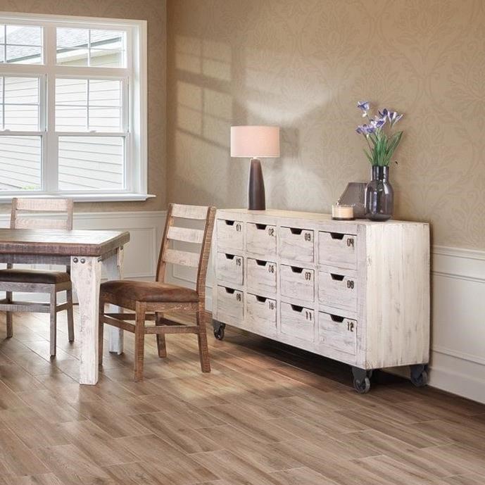 International Furniture Direct 965Multi-Drawer Console