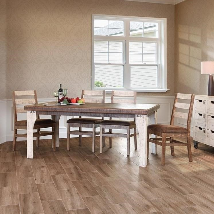 International Furniture Direct 965Wooden Dining Table