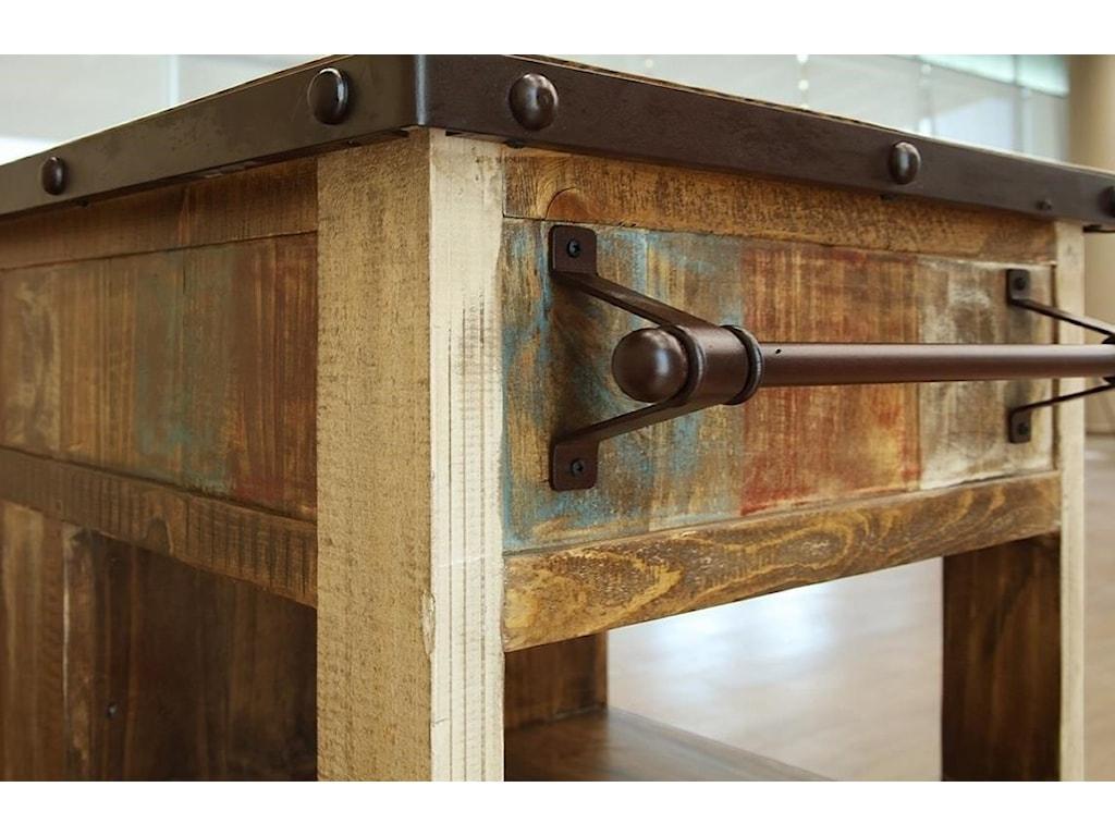 International Furniture Direct AntiqueKitchen Island with 1 Drawer and 1 Door