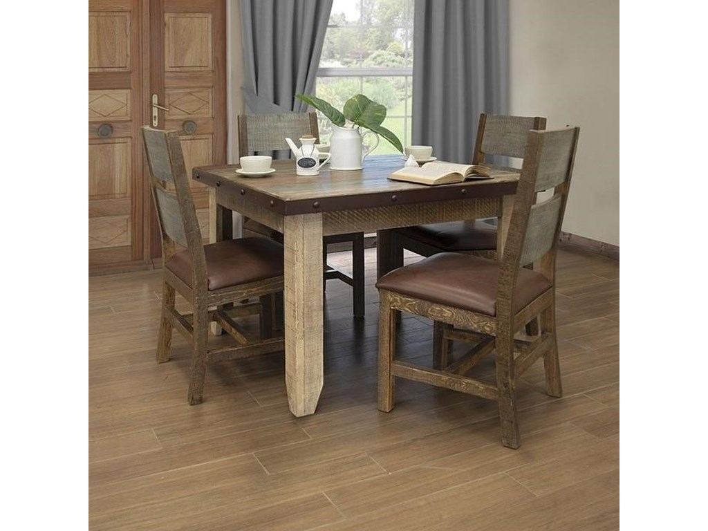 International Furniture Direct Antique5-Piece Table and Chair Set