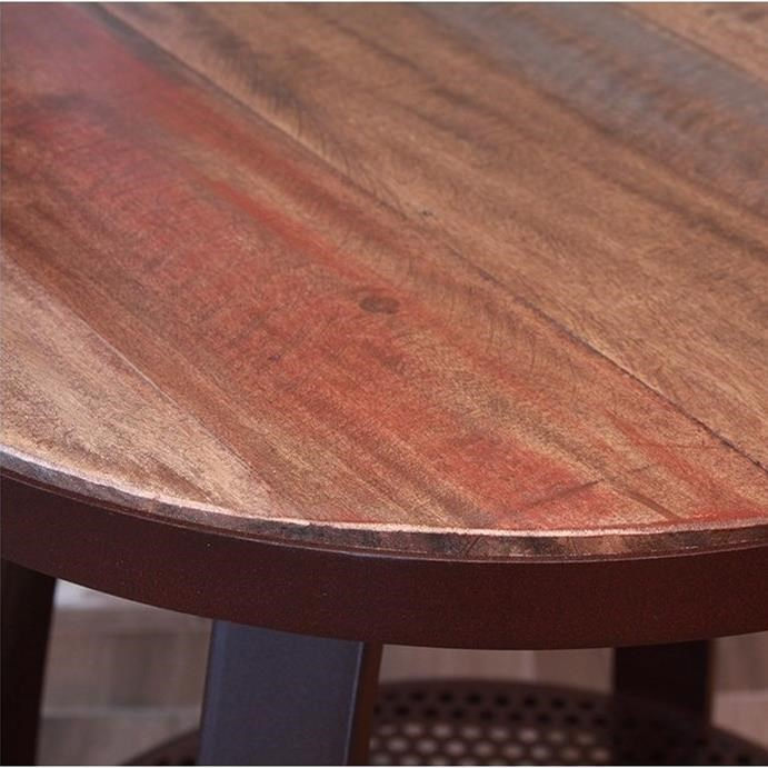 International Furniture Direct Antique IronCocktail Table