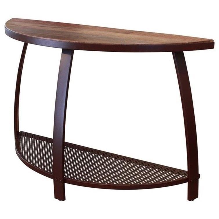 International Furniture Direct Antique IronSofa Table w/1 Iron Shelf