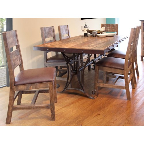 International Furniture Direct Antique Multicolor 7 Piece