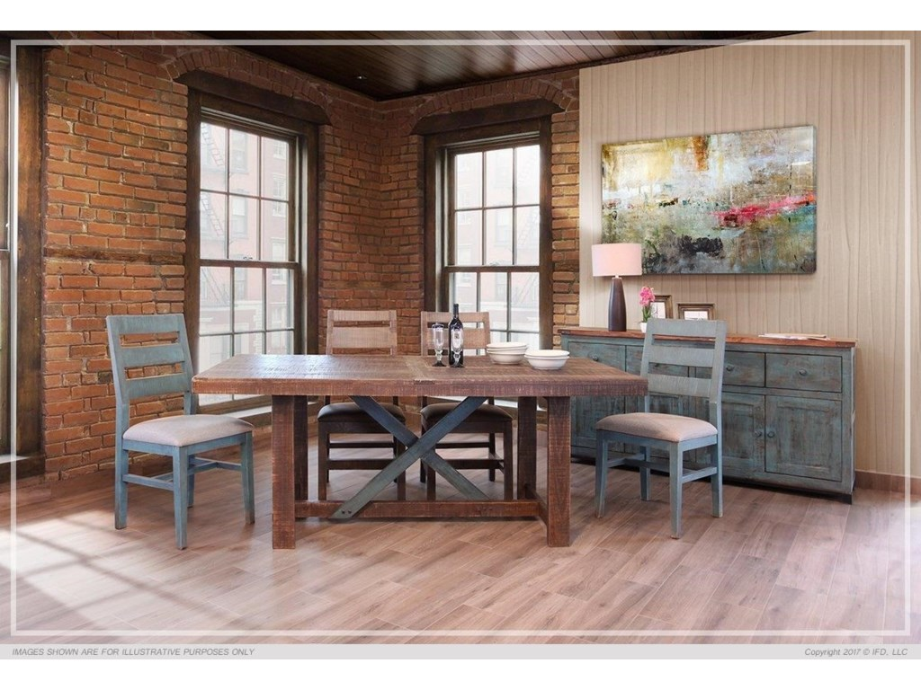 969 Antique Teal 5 Piece Dining Set By International Furniture Direct