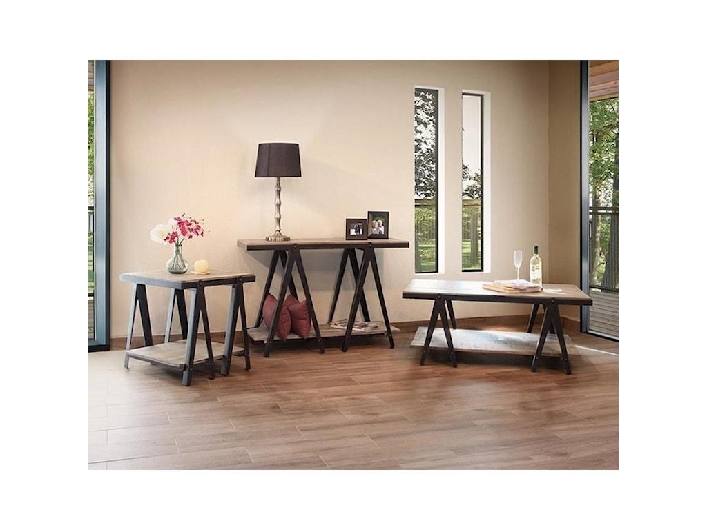 International Furniture Direct ArtifactSofa Table
