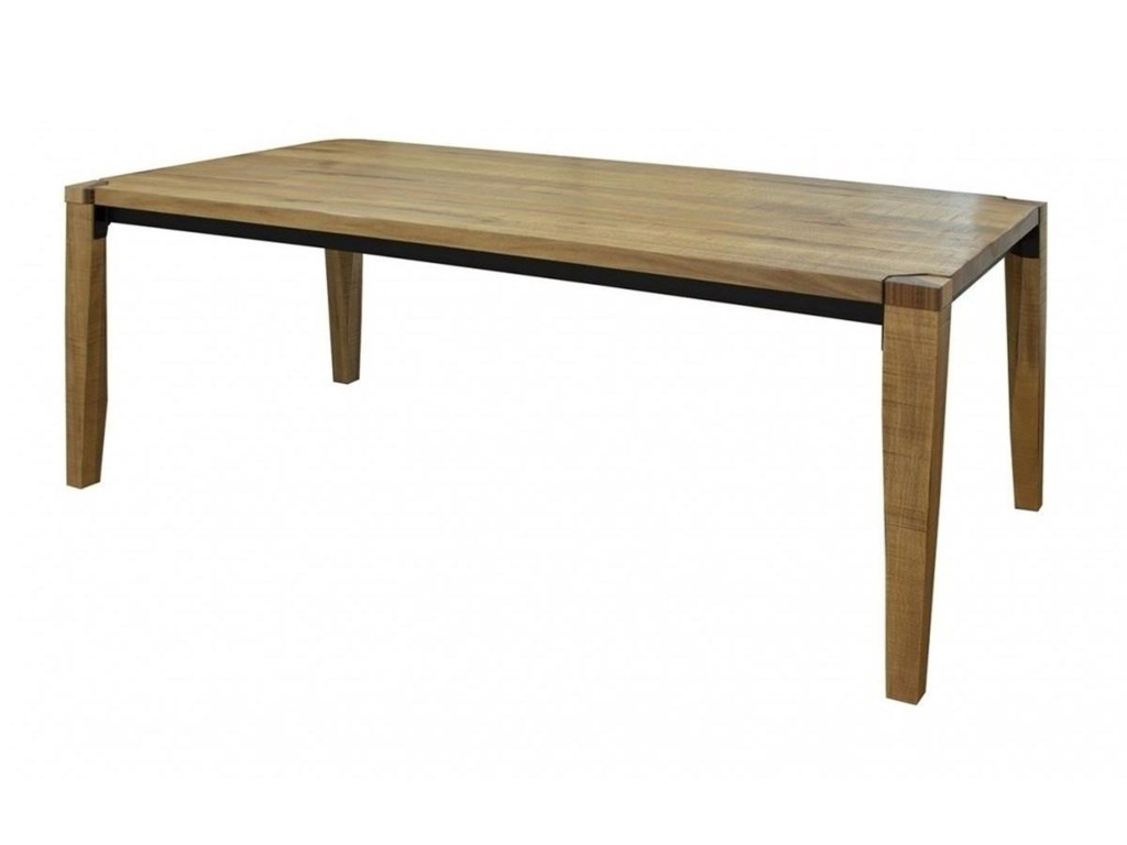 International Furniture Direct ComalaWooden Table with Iron Frame