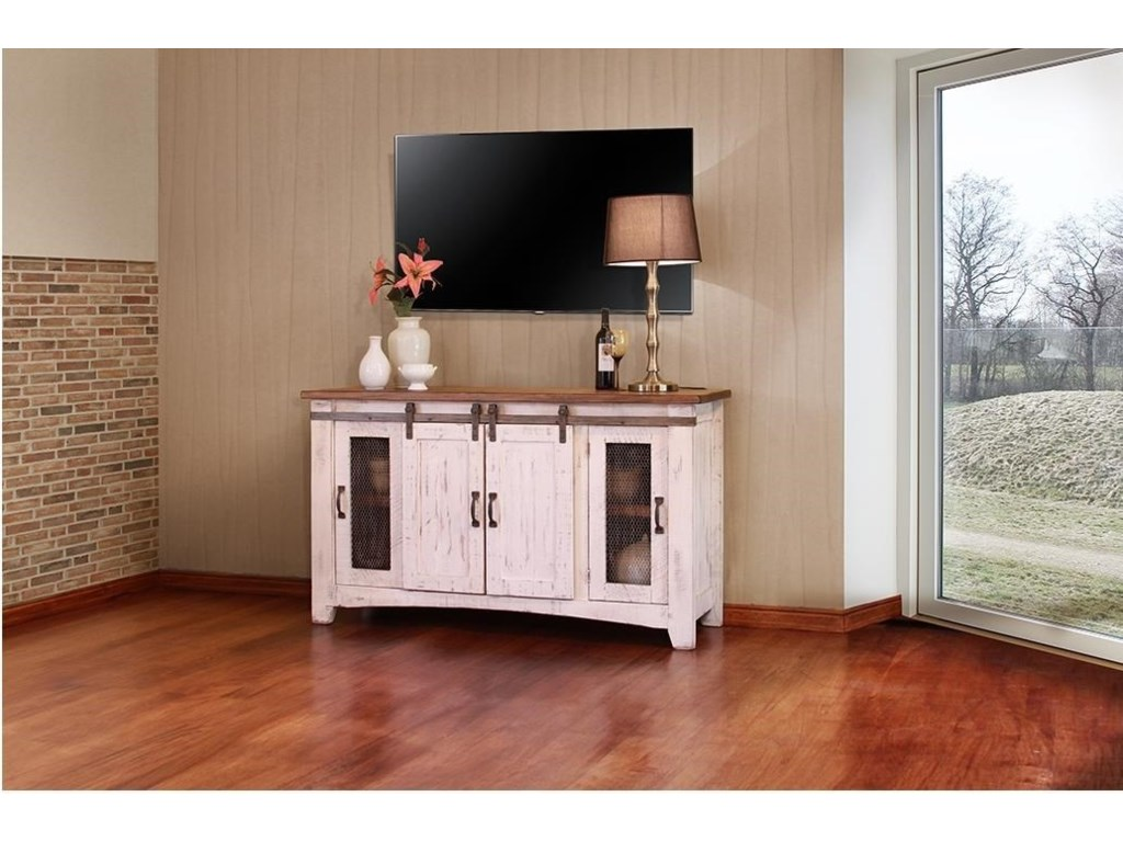International Furniture Direct Pueblo Ifdi Ifd360stand 60 60 White