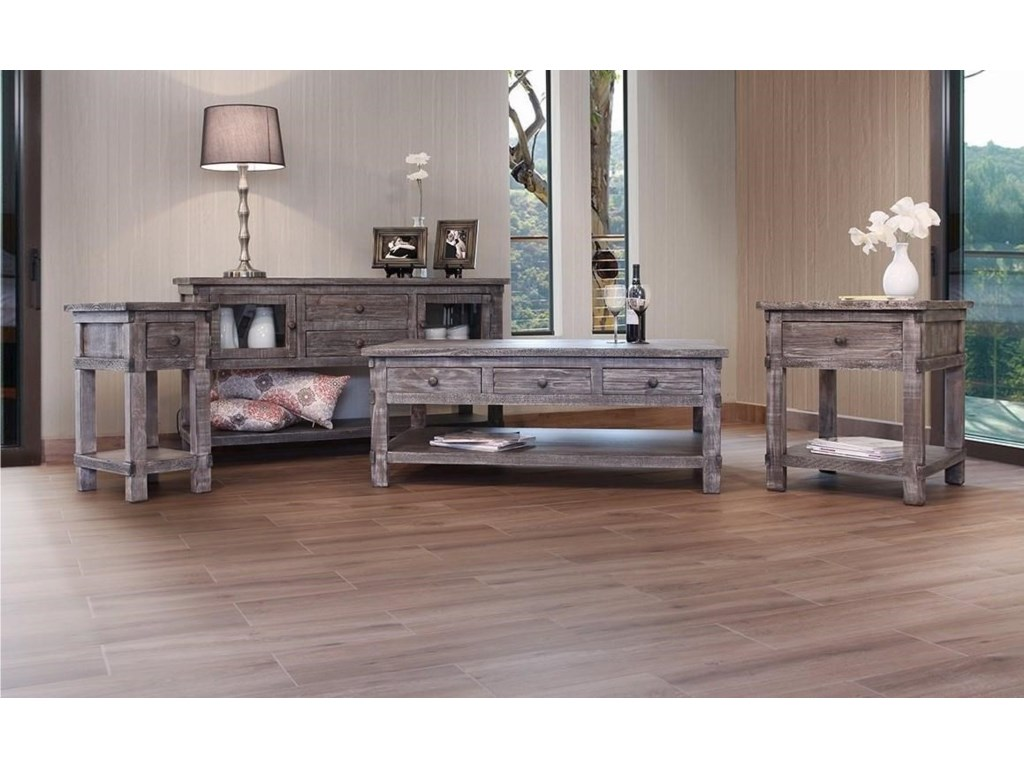 International Furniture Direct San AngeloCocktail Table w/6 Drawers