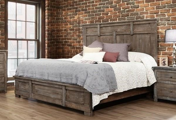 International Furniture Direct San Angelo King Panel Bed   Great American  Home Store   Panel Beds