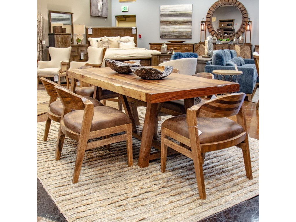 International Furniture Direct ParotaTable with 6 Chairs