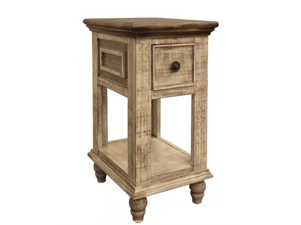 International Furniture Direct Laguna1 Drawer Chair Side Table