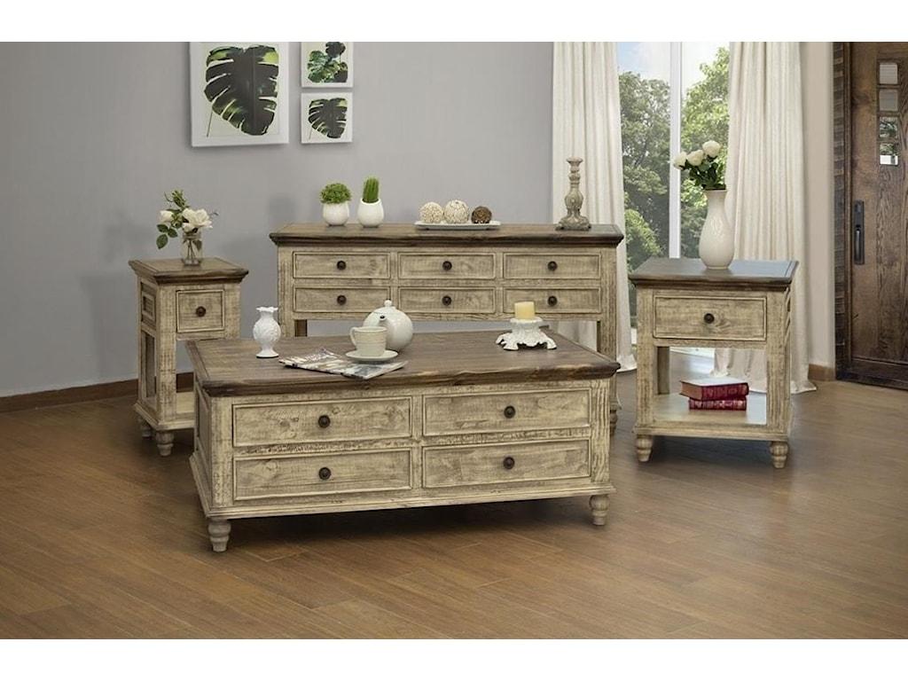 International Furniture Direct Laguna1 Drawer End Table