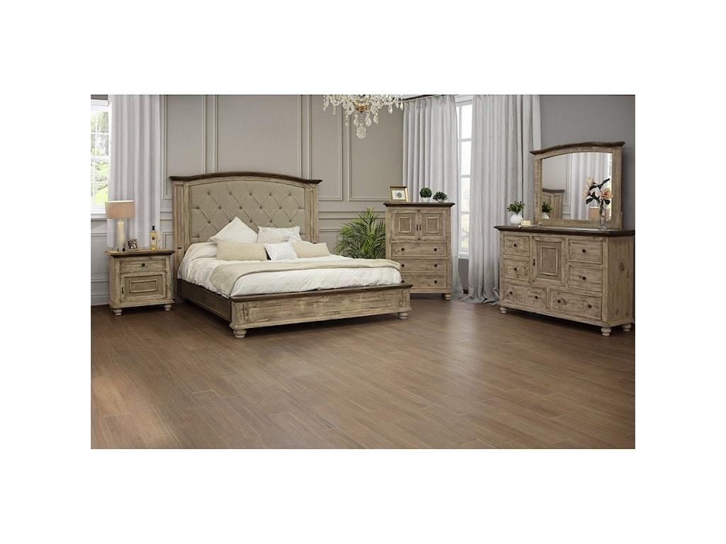 International Furniture Direct LagunaQueen Upholstered Bed