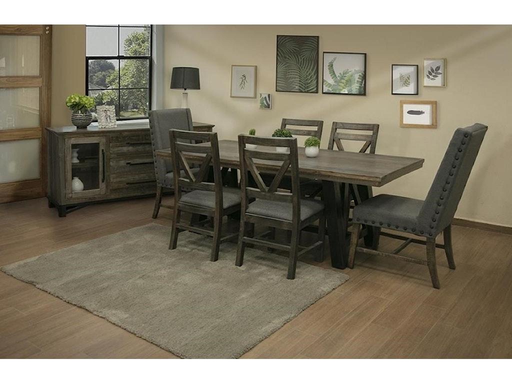 International Furniture Direct Loft3 Drawer, 2 Door Buffet