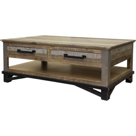 Cocktail Table with 4 Drawers