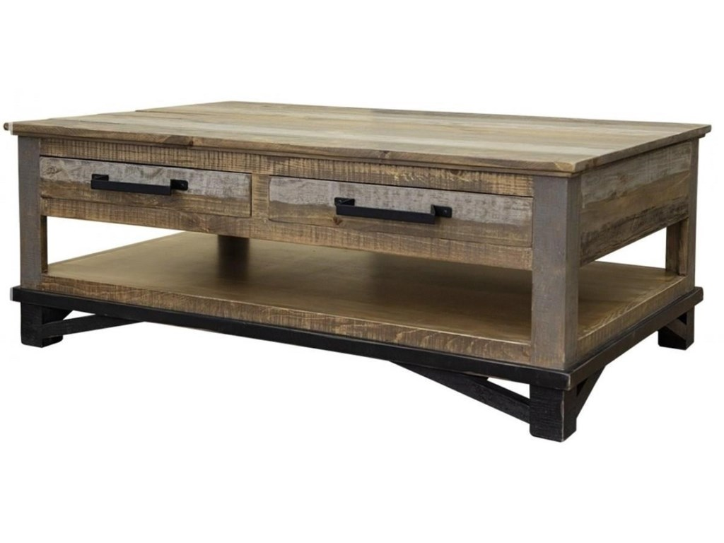 International Furniture Direct LoftCocktail Table with 4 Drawers