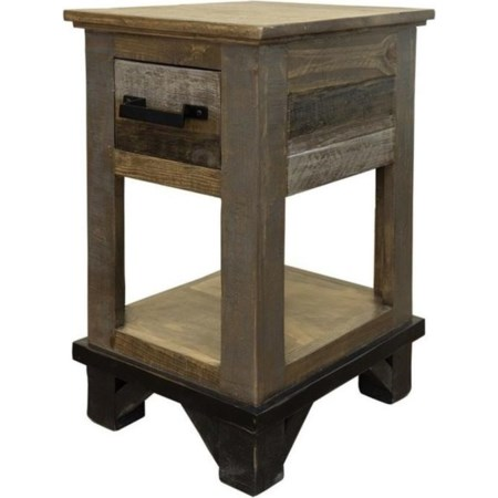 Chairside Table with 1 Drawer