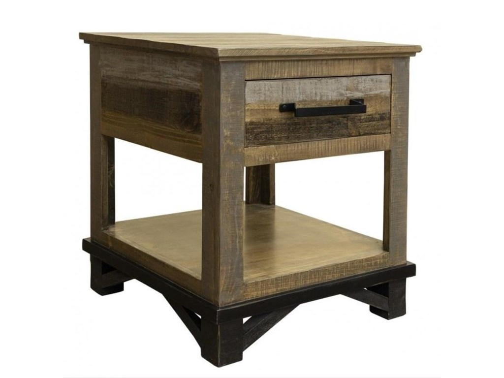 International Furniture Direct LoftEnd Table with 1 Drawer