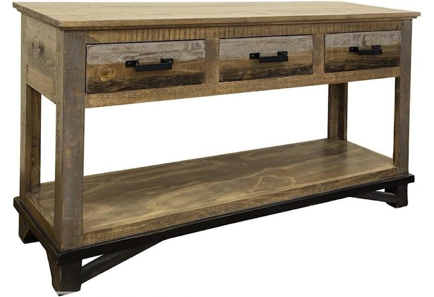 International Furniture Direct Loft Ifd6441sof Rustic Sofa Table
