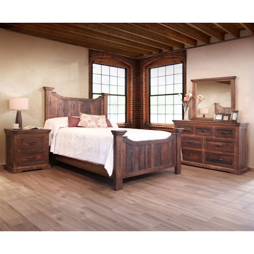 International Furniture Direct Madeira King Bedroom Group