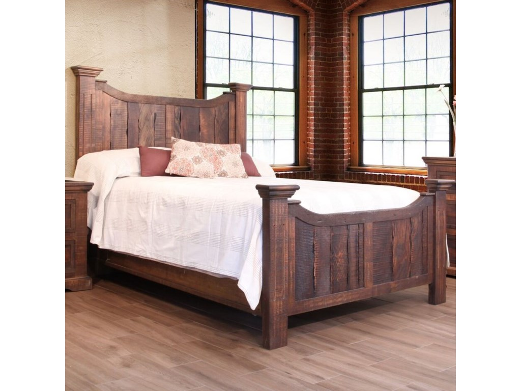 International Furniture Direct MadeiraQueen Panel Bed