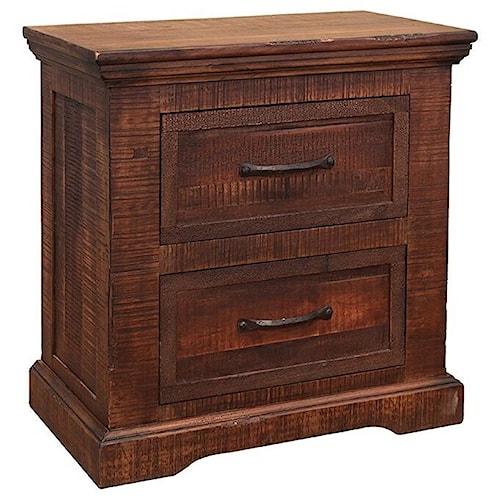 International Furniture Direct Madeira 2 Drawer Nightstand