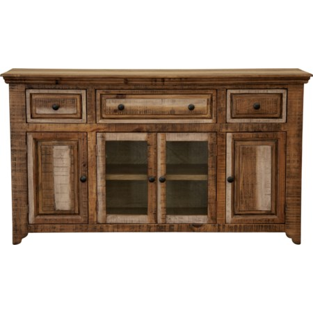 Console with 3 Drawers and 4 Doors