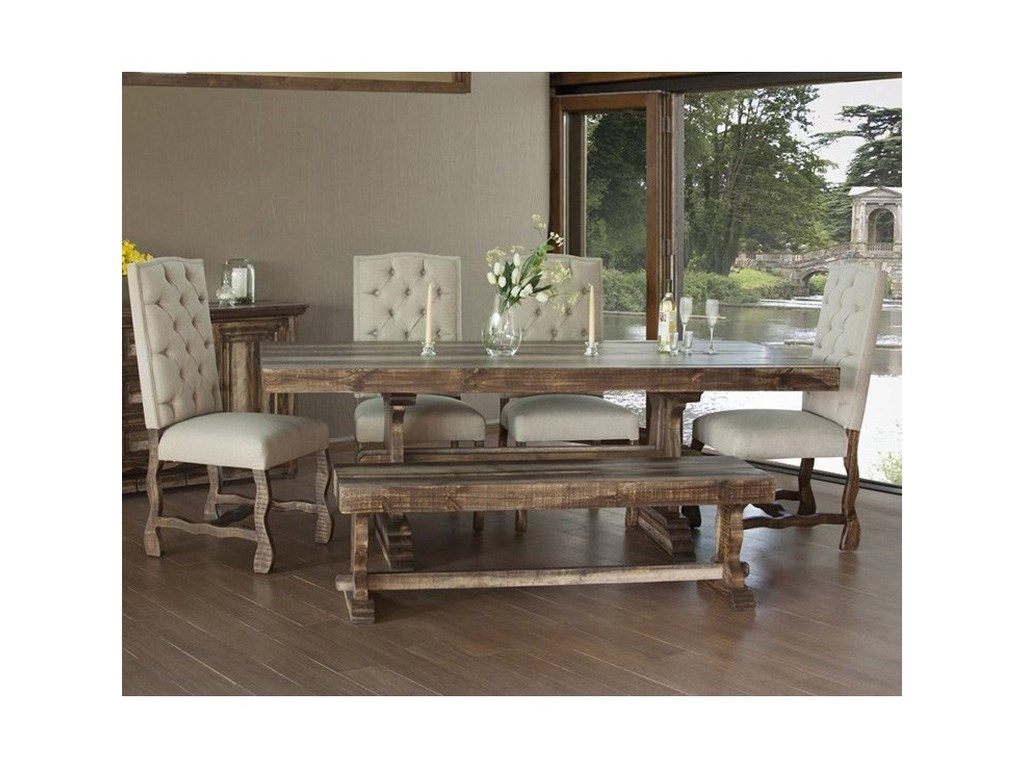 International Furniture Direct MarquezDining Set with Bench