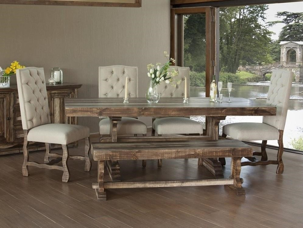 International Furniture Direct MarquezDining Set W/6 Upholstered Chairs ...
