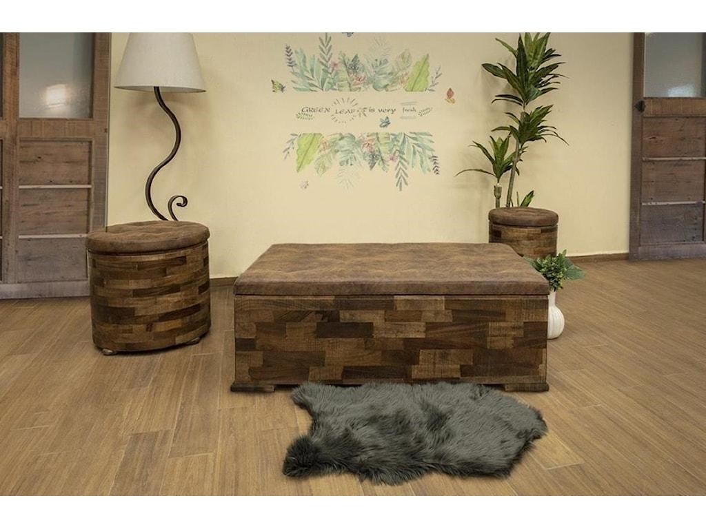 International Furniture Direct MayaCushion Top End Table