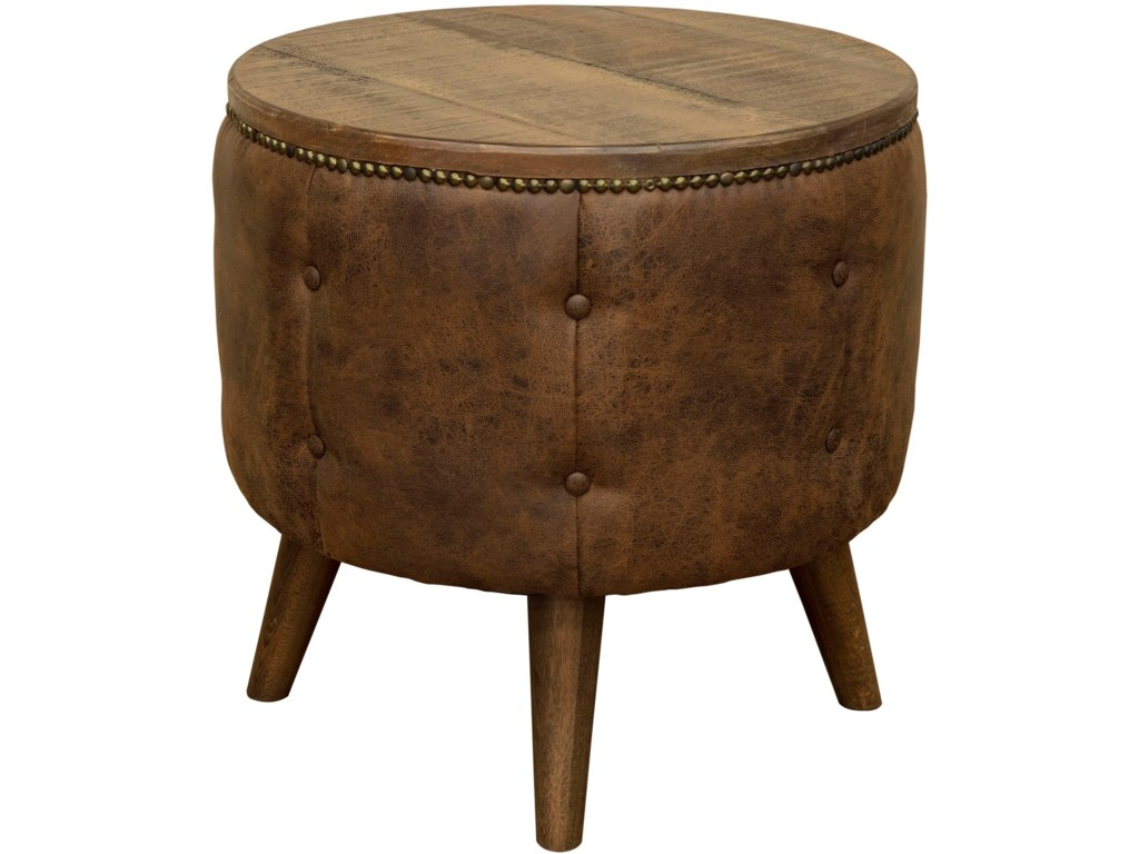 International Furniture Direct MayaEnd Table with Cushion Base
