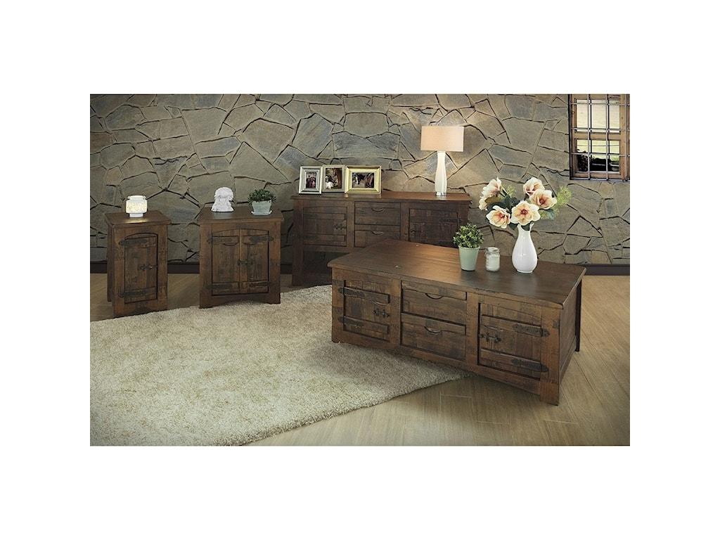International Furniture Direct Mezcal4 Drawer Cocktail Table
