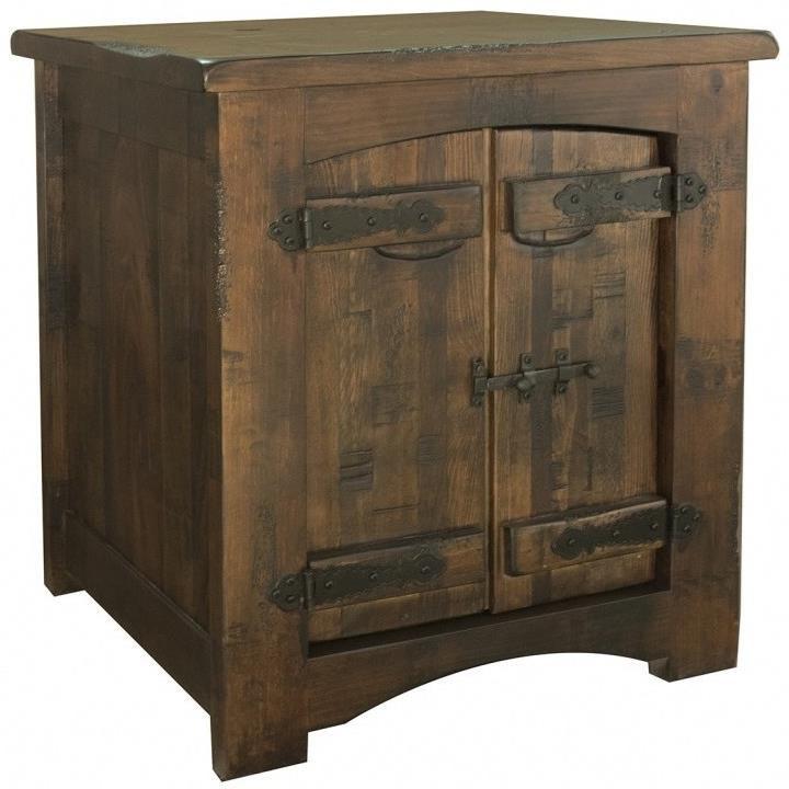 International Furniture Direct Mezcal Rustic Solid Wood 1 Door End Table  sc 1 st  Aladdin Home Store & International Furniture Direct Mezcal Rustic Solid Wood 1 Door End ...