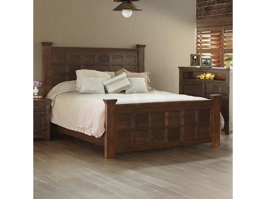 International Furniture Direct MezcalKing Panel Bed